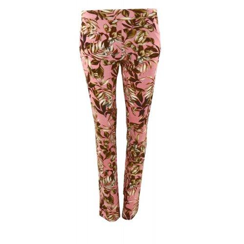Spodnie dresowe w listki (różowe)