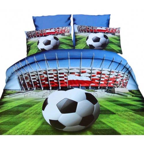 Pościel 3D Piłka Nożna Stadion 160x200