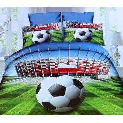 Pościel 3D Piłka Nożna Stadion 140x200