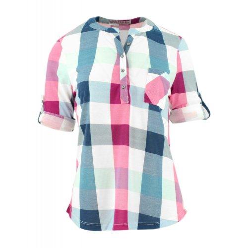Bluzka koszulowa w kratkę (kolor różowy)