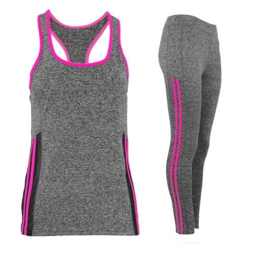 Komplet damski sportowy fitness (fuksja)