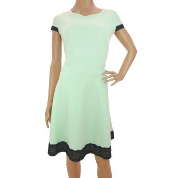 Sukienka z koronką (miętowa)
