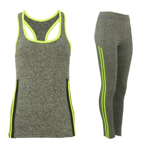 Komplet damski sportowy fitness (żółty)