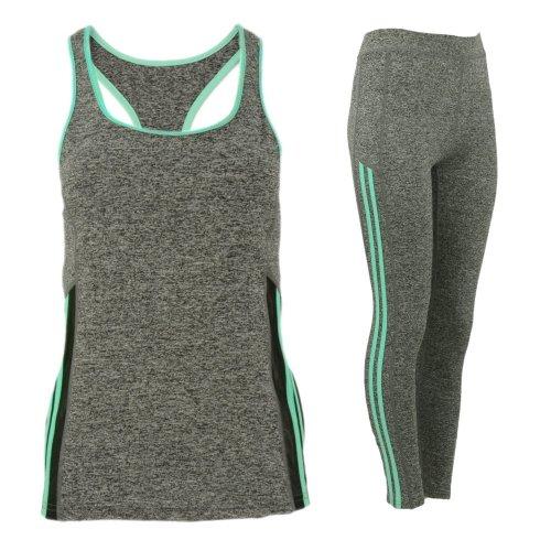 Komplet damski sportowy fitness (miętowy)