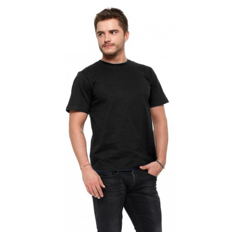 T-shirt męski MORAJ 100 % bawełna (czarny)