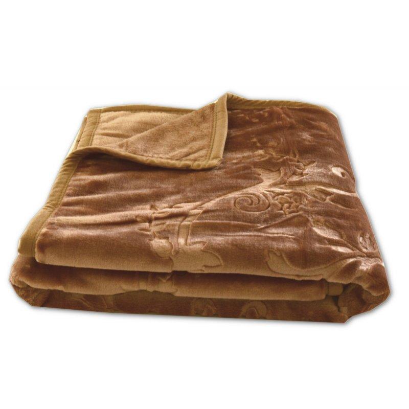 Koc Akrylowy Tłoczony Narzuta ELWAY 160x210 Kolor 7 Wytłaczany Ciemny Beż Koc Salonu Koc Akrylowy Elway 200x240