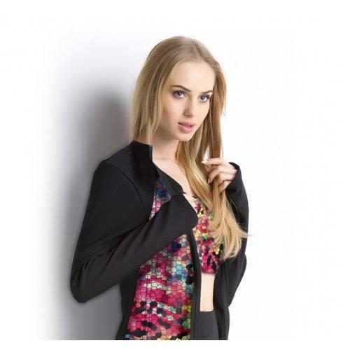 Bluza damska na stójce (kolorowe wstawki)