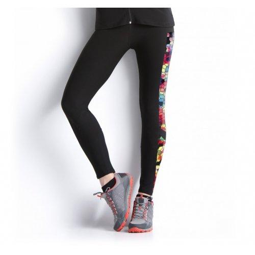 Sportowe legginsy damskie (kolorowe wstawki)