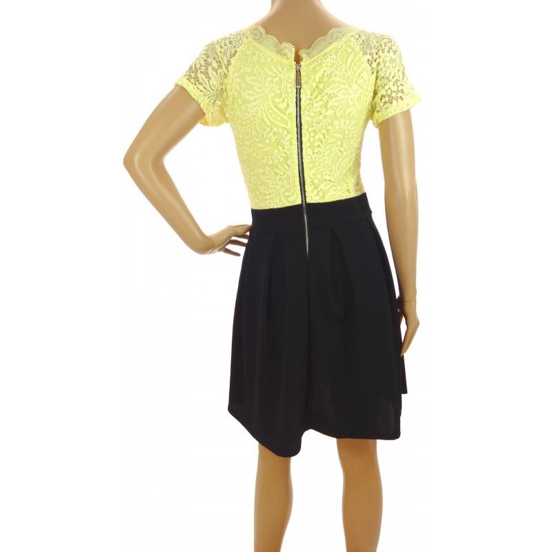 Sukienka rozkloszowana (żółta)