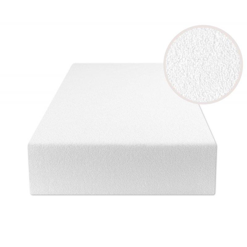 Białe prześcieradło z gumką 140x200 FROTTE Biały Prześcieradło 140x200 z Gumką Białe Prześcieradło z Gumką Frotte 140x200