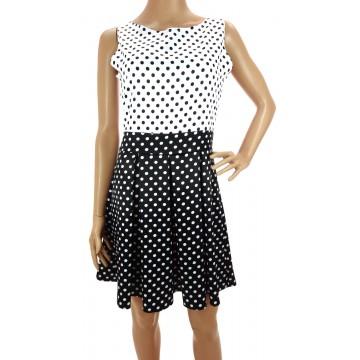 Sukienka w grochy (czarno biała)