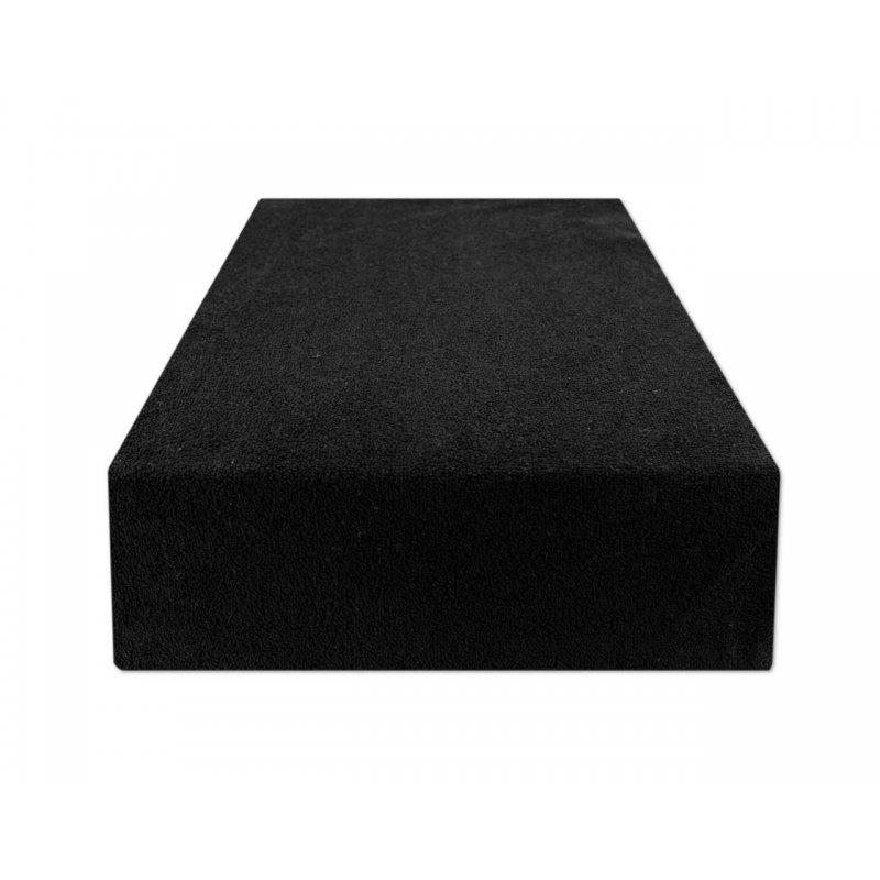 Czarne prześcieradło z gumką 140x200 FROTTE Czarny Czarne Prześcieradło z Gumką 140x200
