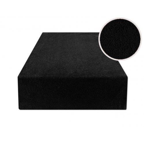 Czarne prześcieradło z gumką 140x200 FROTTE Czarny