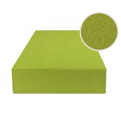Zielone prześcieradło z gumką 140x200 FROTTE Trawa