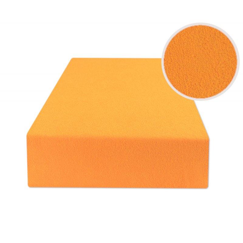 Ciemno żółte prześcieradło z gumką 160x200 FROTTE Ciemny Żółty Prześcieradło na Gumkę 160x200