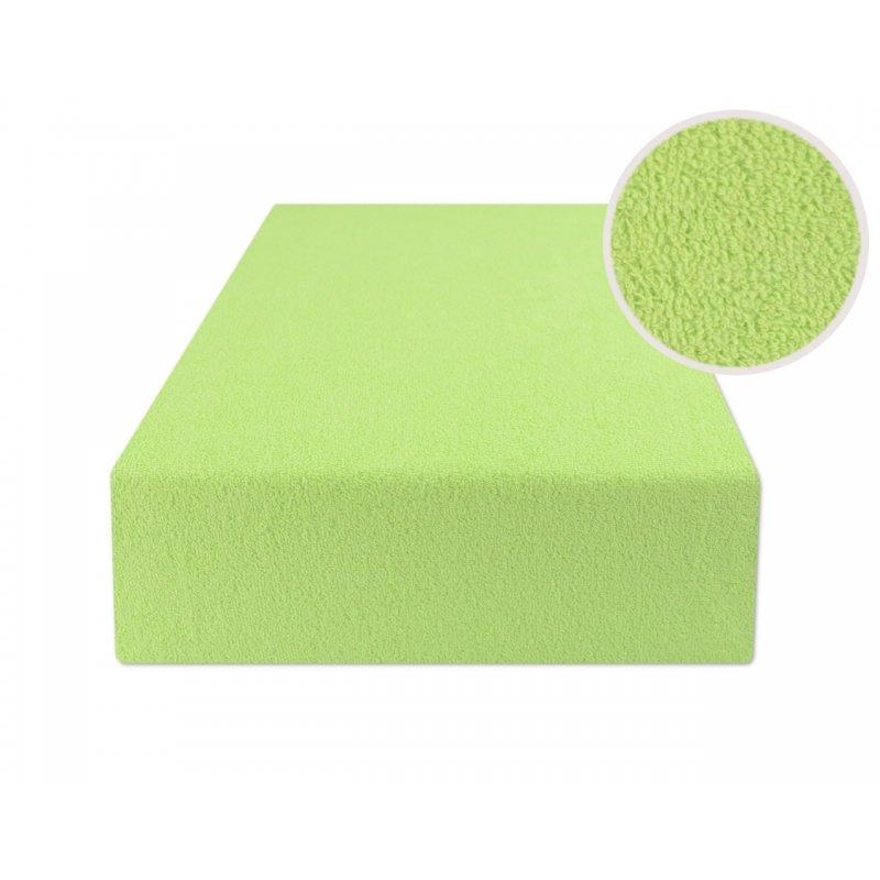 Jasno zielone prześcieradło z gumką na wersalkę 160x200 FROTTE Jasna Zieleń Seledynowe Prześcieradło Frotte 160x200