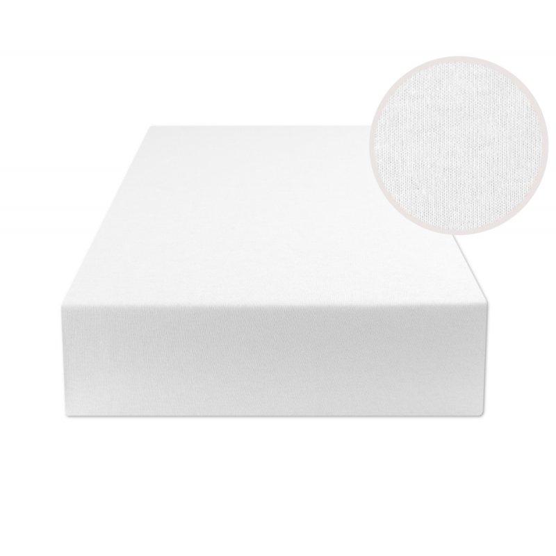 Białe prześcieradło z gumką 140x200 JERSEY Biały Prześcieradło 140x200 z Gumką Białe