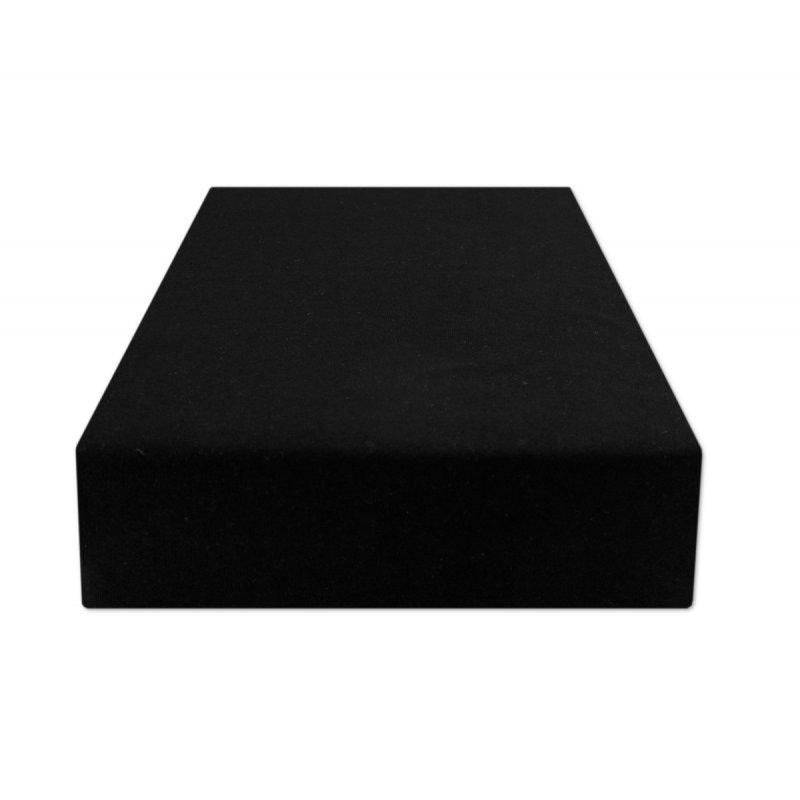 Czarne prześcieradło z gumką 140x200 JERSEY Czarny Czarne Prześcieradło 140x200