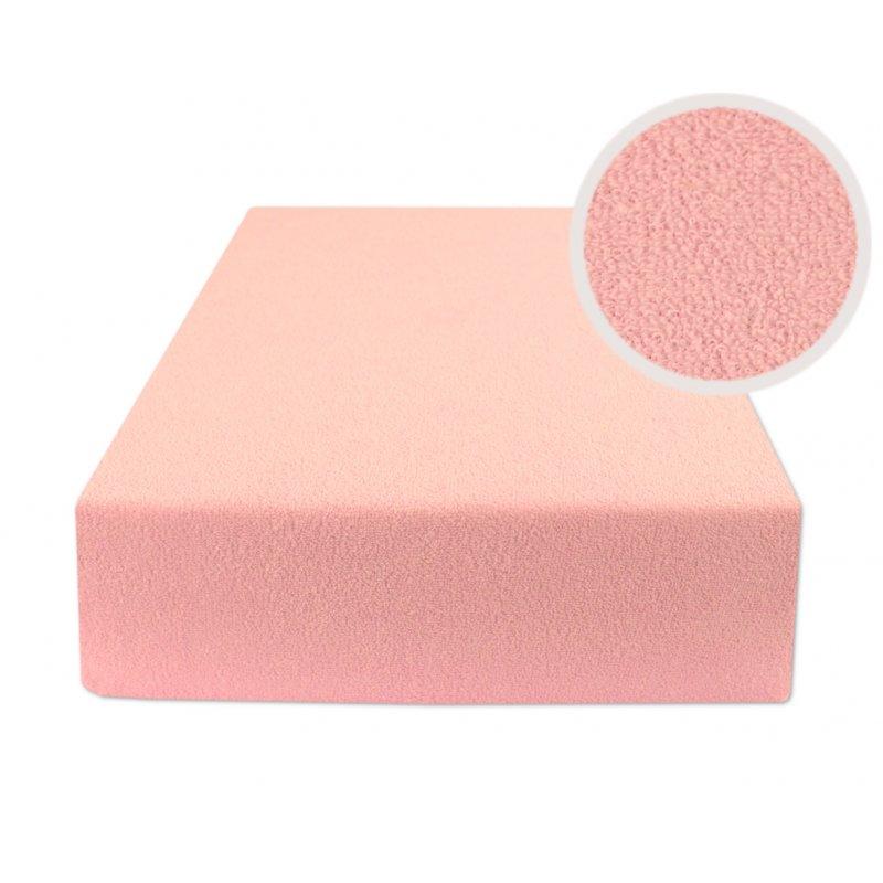 Jasno różowe prześcieradło do łóżeczka 60x120 Prześcieradło 60x120 z Gumką Dziecięce Prześcieradło Frotte 60x120