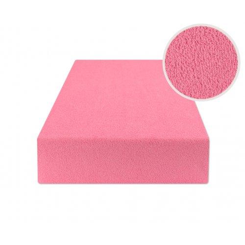 Różowe prześcieradło do łóżeczka z gumką 60x120 FROTTE Róż
