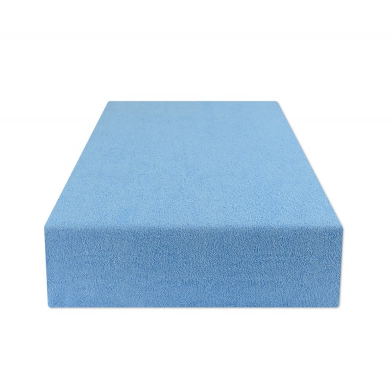 Prześcieradło do łóżeczka 70x140 FROTTE Niebieski Przescieradlo na Gumce 70x140 Prześcieradło do Łóżeczka 70x140