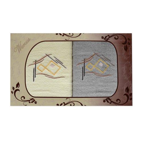 Komplet ręczników na prezent 2cz Haft WNS-2515