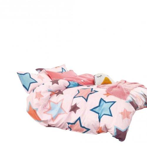 Pościel Dziecięca 140x200 100% Bawełna Satynowa (Gwiazdy)