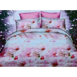 Pościel w różowe Kwiaty 200x220 WZ. 2