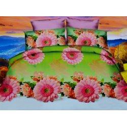 Pościel 3D Kwiaty różowe Gerbery 200x220 WZ. 4