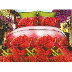 Pościel w Czerwone Róże 3D 200x220 WZ. 7