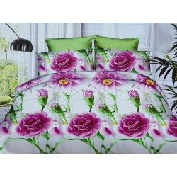 Pościel w fioletowe Kwiaty 3D 200x220 WZ. 11