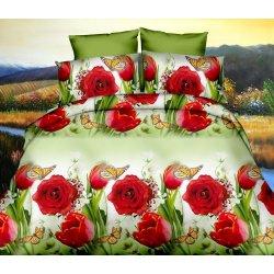Pościel w Czerwone Róże 3D 200x220 WZ. 14