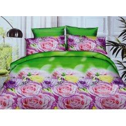 Pościel w Różowe Kwiaty 3D 200x220 WZ. 15