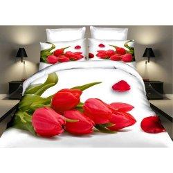 Pościel w Czerwone Tulipany 3D 200x220 WZ. 16