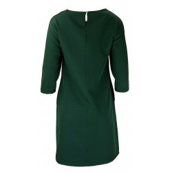 Sukienka z lampasami na ramionach- polski producent-zielona