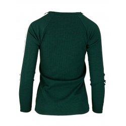 Bluza sweter z dzianiny w prążkowanej z lampasami na ramionach- butelka