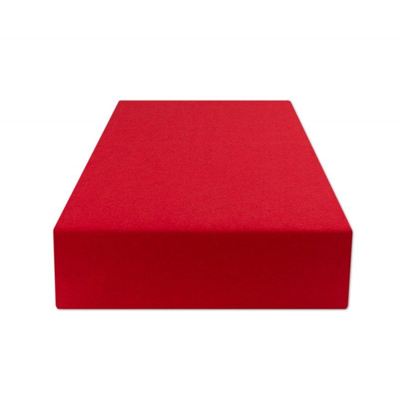 Czerwone prześcieradło z gumką 180x200 JERSEY Czerwony Prześcieradło na Łóżko 180x200