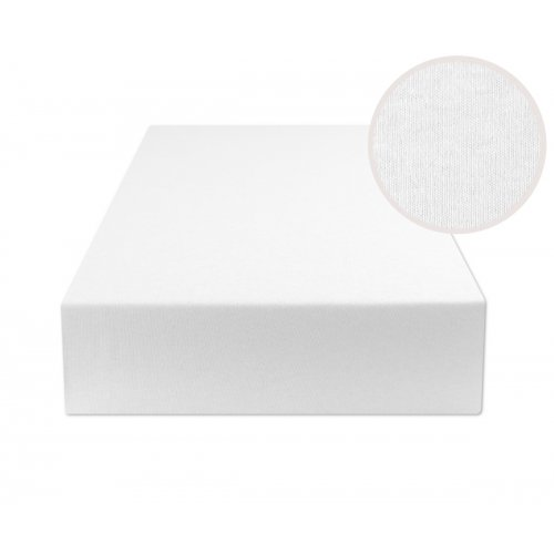 Białe prześcieradło z gumką 180x200 JERSEY Biały