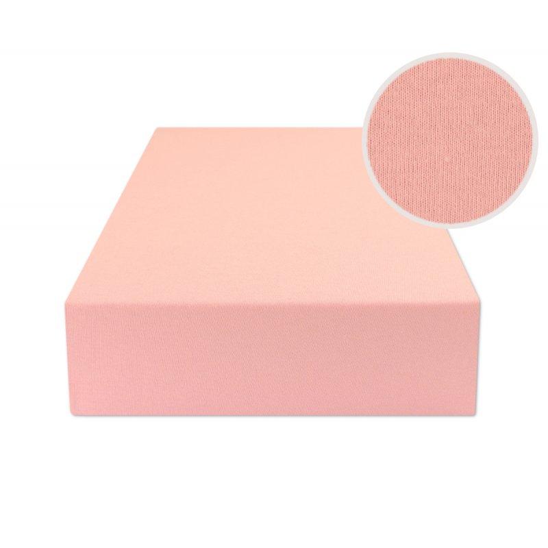 Jasno różowe prześcieradło z gumką 200x220 JERSEY Jasny Róż Prześcieradło Jersey Duże