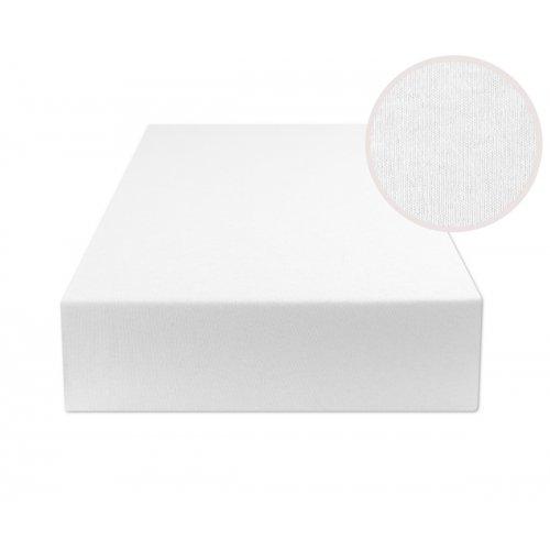 Białe prześcieradło z gumką 200x220 JERSEY Biały