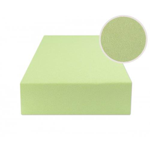 Jasno zielone prześcieradło z gumką 200x220 JERSEY Jasna Zieleń