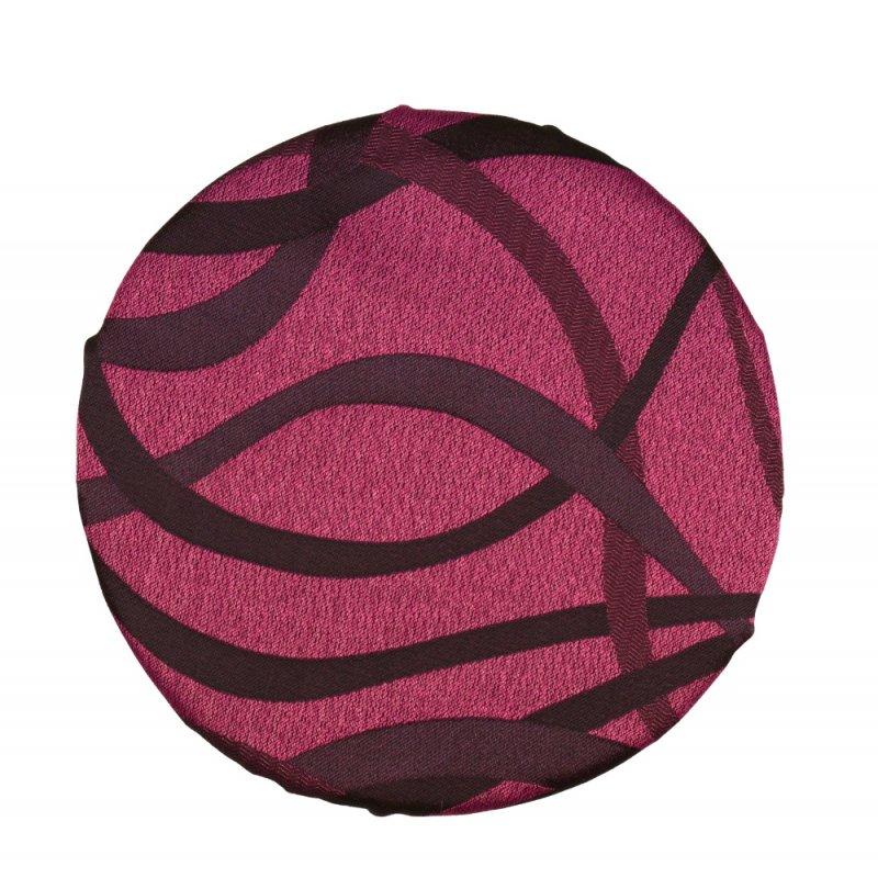 Okrągła poduszka na taboret 30 cm (fiolet wzór)