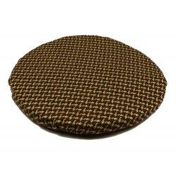 Okrągła poduszka na taboret 30 cm (beżowa pepitka)