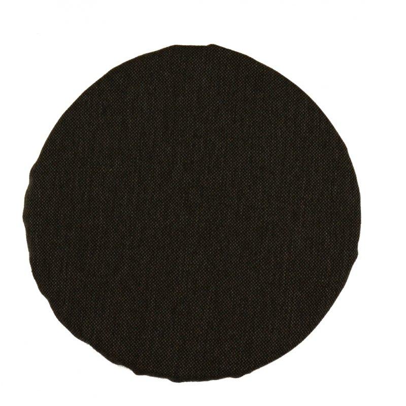 Okrągła poduszka na taboret 30 cm (grafit2)