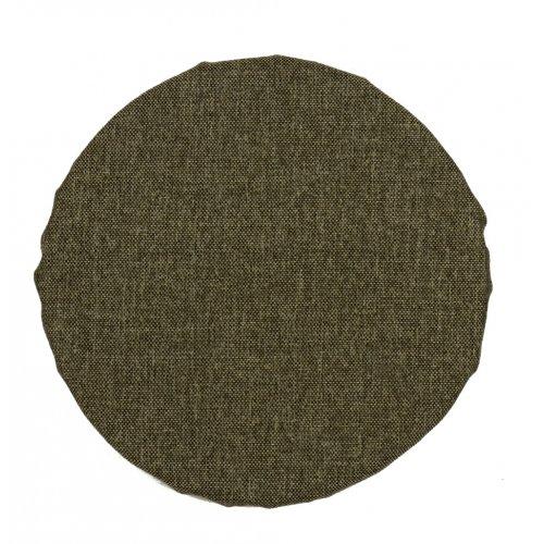 Okrągła poduszka na taboret 30 cm (szary melanż)