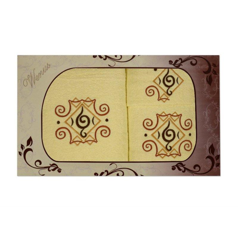 Komplet ręczników na prezent 3cz. Haft WNS-2822