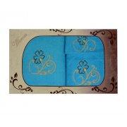 Komplet ręczników na prezent 3cz. Haft WNS-2826