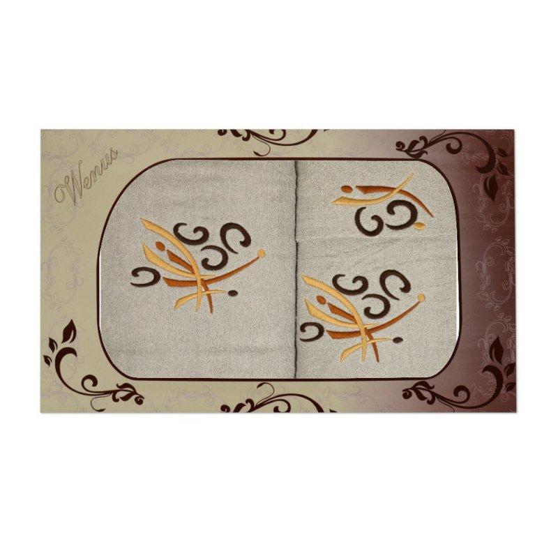 Komplet ręczników na prezent 3cz. Haft WNS-2828