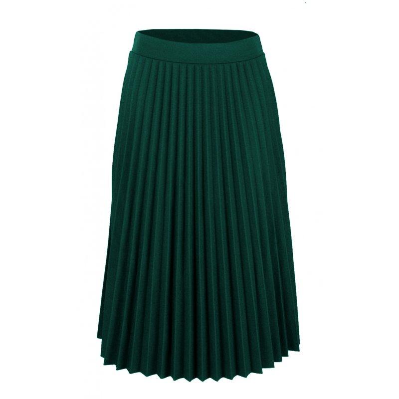 ca3ee951 Włoska Spódnica z Plisami z Gumką w Pasie - Zielona   eStilex.pl   Modna i  tania odzież damska online, pościel 3D, narzuty