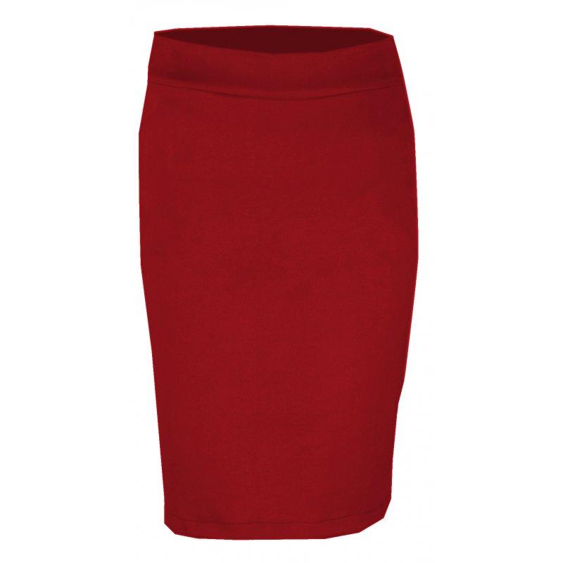 Ołówkowa Spódnica z Ekozamszu DUŻY ROZMIAR- czerwona